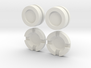 Thruster Cap & Center Insert Pairs Assembled in White Natural Versatile Plastic