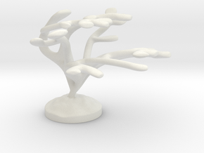 Elkhorn Coral  in White Natural Versatile Plastic