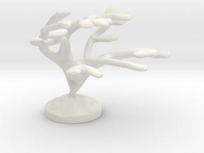 Elkhorn Coral  in White Natural Versatile Plastic