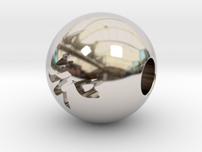 16mm Wa(Peace in harmony) Sphere in Platinum