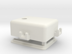 Edtracker Case  with clips for bands/cableties in White Natural Versatile Plastic