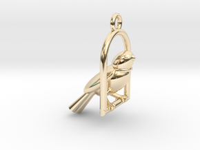 Swinging Bird Earring in 14K Yellow Gold