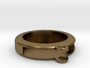 Circular Frame Pendant in Natural Bronze