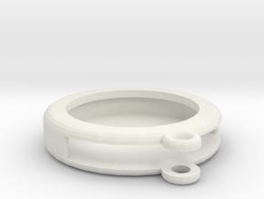 Circular Frame Pendant in White Natural Versatile Plastic