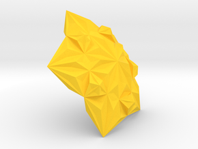 3D Tile6 in Yellow Processed Versatile Plastic