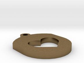 Heart Insert For Circular Frame Pendant in Natural Bronze