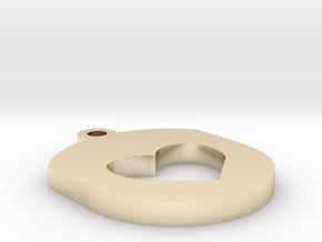Heart Insert For Circular Frame Pendant in 14K Yellow Gold