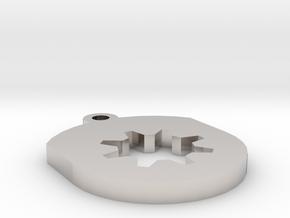 Gear Insert For Circular Frame Pendant in Platinum