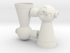 Thruster Pair Assembled in White Natural Versatile Plastic
