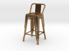 1:24 Pauchard Stool, Low Back in Natural Brass