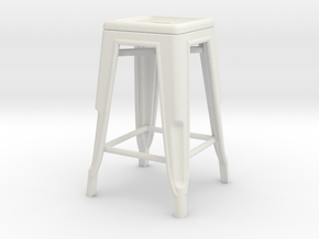 1:24 Pauchard Stool in White Natural Versatile Plastic