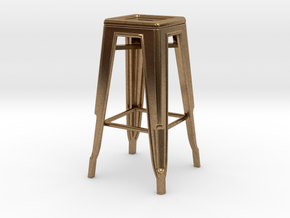 1:24 Tall Pauchard Stool in Natural Brass