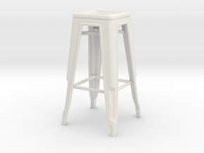 1:24 Tall Pauchard Stool in White Strong & Flexible
