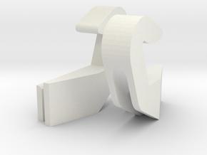 SP3 USB Hooks in White Natural Versatile Plastic