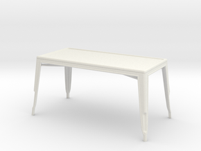 1:24 Pauchard Dining Table, Large in White Strong & Flexible