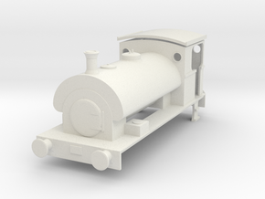4mm Scale Peckett W6 - Dapol Pug Chassis in White Natural Versatile Plastic