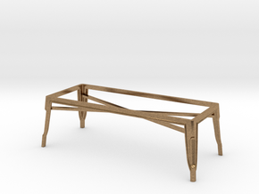 1:24 Pauchard Coffee Table Frame in Natural Brass