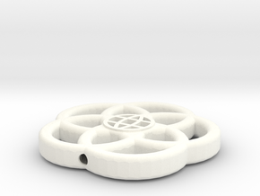 Topper No Base Hollow in White Processed Versatile Plastic