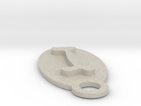 Dog Bone Key Chain in Natural Sandstone
