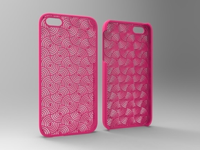 Iphone5 Case 2_5 in Pink Strong & Flexible Polished