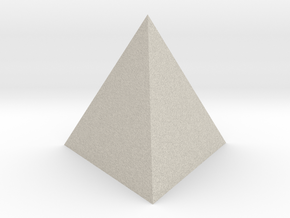 Tetrahedron in Natural Sandstone