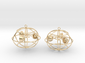 The anemometer earrings in 14K Yellow Gold