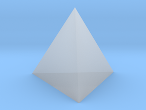 Tetrahedron (small) in Smooth Fine Detail Plastic
