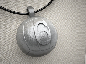 Volleyball Pendant #6 in Stainless Steel