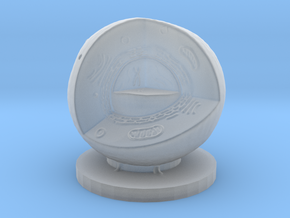 Cell Quarter 100mm in Smooth Fine Detail Plastic