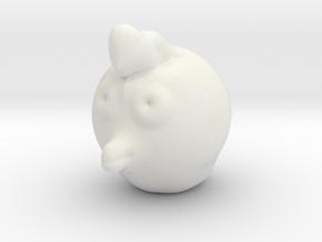 Chicken Head in White Natural Versatile Plastic