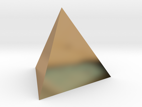 Tetrahedron 4er 40mm  in Polished Brass