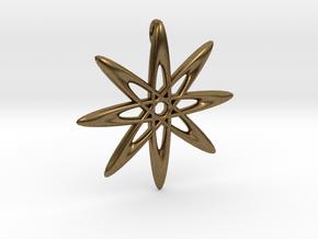 Atomic Pendant in Natural Bronze