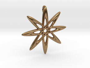 Atomic Pendant in Natural Brass