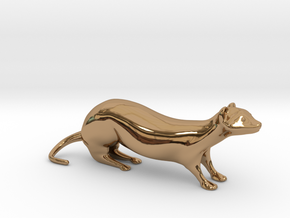 The Weasel Desk Toy in Polished Brass