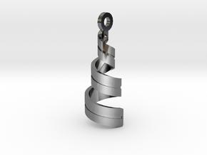 Spiral Pendant in Premium Silver