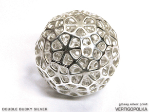 Double Bucky Silver in Natural Silver