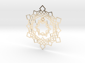 Squares Snowflake Ornament in 14K Yellow Gold