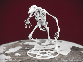 Werewolf Skeleton in White Natural Versatile Plastic