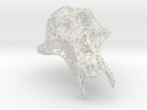 PetitSinge Wireframe in White Natural Versatile Plastic