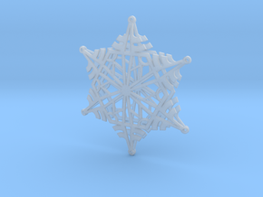 Arcs Snowflake - 3D in Smooth Fine Detail Plastic