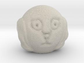 Spaniel dog head in Natural Sandstone
