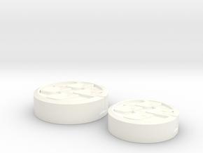 Brake Reservoir Cap and Clutch Reservoir Cap in White Processed Versatile Plastic
