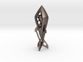 Love Rocket in Polished Bronzed Silver Steel