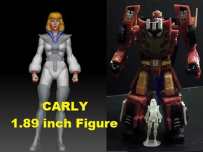 Carly homage Space Woman 1.89inch Transformers Min in Smooth Fine Detail Plastic