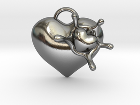 LoveSplash in Polished Silver