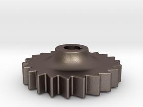 "D&RG Brake Rachet - 2.5"" scale in Polished Bronzed Silver Steel"