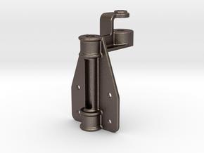 "D&RG Upper Brake Mast Bracket - 2.5"" scale in Polished Bronzed Silver Steel"
