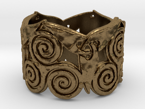 Triskelion & Triquetra ring Ring Size 7 in Natural Bronze