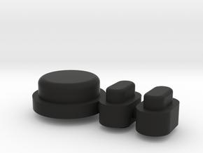 Buttons - Complete Set - Plastics in Black Natural Versatile Plastic