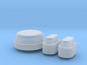 Buttons - Complete Set - Plastics in Smooth Fine Detail Plastic